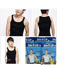 Sexy Slim'N Lift Slimming Shirt Vest Valugaze For Men S-XL 2 Color - White