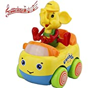 Elloapic Cartoon Elephant Activity Musical Electric Toy Music Lighting Universal Toy Car Childrens Toy Car