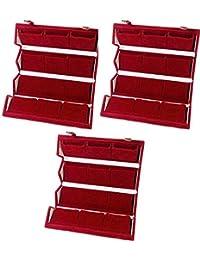 Meenaz Jewellery Velvet Red Earrings For Girls Jewellery Box For Women,Ear Rings Jewellery Boxes For Girls (Gift...