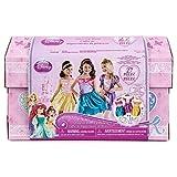 Disney Princess Dress Up Trunk Ariel Belle Rapunzel Outfits Jewelry 27 Pieces