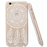 IPhone 6S Case,iPhone 6 Case,Hundromi Iphone 6 6S Plastic Transparent Clear Case Cover Henna Full Mandala Floral...