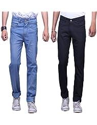 X-CROSS Men's Slim Fit Jeans Combo (Pack Of 2) - B0132WYJYU