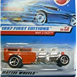 Hot Wheels 1997 First Editions #7 Of 12 Way 2 Fast #514 Orange On Card Variation