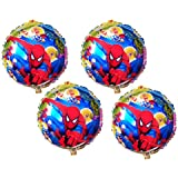 Spiderman Superman Hulk Super Heroes Printed Foil Balloon Big Size 16 Inches (Pack Of 4 Pcs)