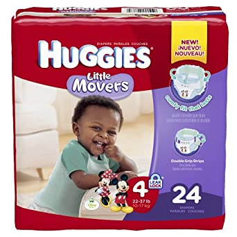 Amazon.com: Huggies Little Movers Diapers, Size 4, 24
