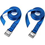 Two Pack Of Premium Lashing Straps By Vault - 12 Ft Long – Rated 250 Lbs - Perfect Tie Down Strap For Kayaks Carriers...