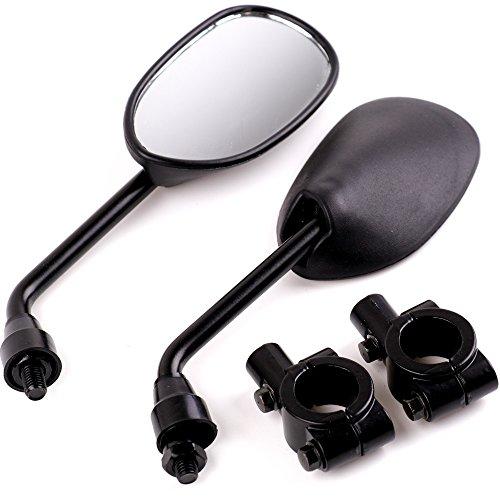 XYZCTEM Black Retro Style Side Rearview Mirror w/ 7/8″ Handlebar Mount 8mm Adaptor For Mountain Bike BMX Bicycle Motorcycle Dirt Bike ATV Cruiser Chopper-Pair