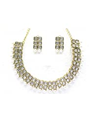 Designer Austrian Diamond Necklace Set By Zaveri Pearls - B00NEF3S70