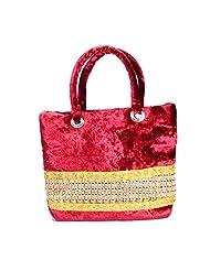 Arisha Kreation Co Women Hand Bag (Maroon)