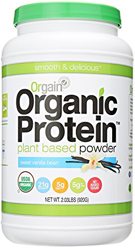 Make Healthy Coffee & Vanilla Yogurt Popsicles with Orgain Organic Protein Plant-Based Powder, Vanilla Bean, 2.03 Pound
