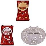 Gold Plated GL Pooja Thali Set,Silver Plated Royal Pooja Thali Set With Ganesh Laksmi And Silver Plated Ganesh... - B01FZBBR5K