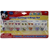 Disney Mickey And Friends Days Of The Week Earring And Ring Set, Set Of 3
