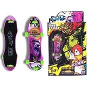 Remeehi Educational Mini Finger Skateboard Cute Educational Toys Mini Finger Skateboards For Kids Purple