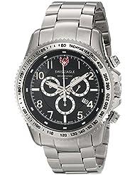Swiss Eagle Men's SE-9044-11 Land Master Analog Display Swiss Quartz Silver Watch