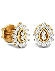 WearYourShine By PC Jeweller The Riva 18 K Gold And Diamond Stud Earrings