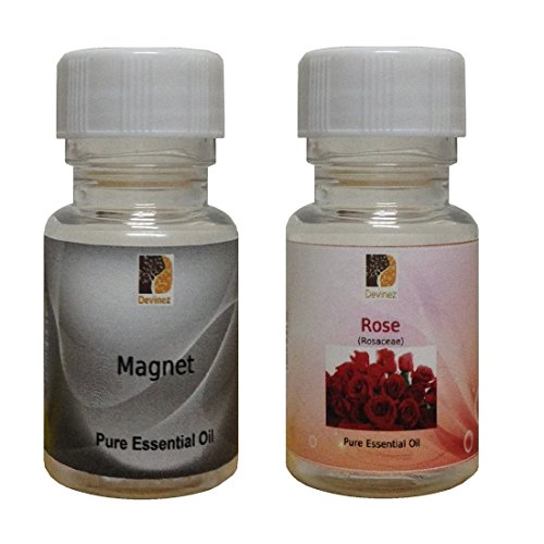 Devinez Aroma Magnet And Rose Essential Oil For Diffusers, 15ml (Pack Of 2)