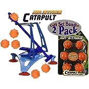 Hog Wild High Tech Medieval Action Air Strike Catapult & Foam Spiked Refill Balls Gift Set Battle Bundle 2 Pack