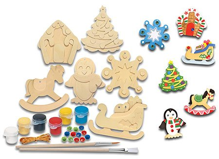 Paint Your Own Wooden Christmas Ornaments Christmas 2018
