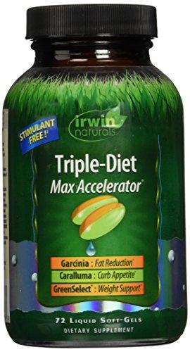 Irwin Naturals Triple Diet Max Accelerator Capsules, 72 Count