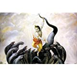 Tallenge - Krishna Dances On The Hoods Of The Kaliya Serpent - A3 Size Rolled Poster