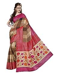 Divyaemporio Women Cotton Silk Self Print With Blouse Piece Sarees (V-13339 _Multi-Coloured _Free Size)