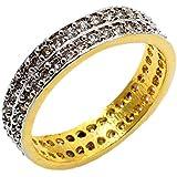 24k Gold Plated White Topaz Quartz Fashion Jewlelry Ring White Topaz Quartz Pis 95 Approx Ring Size 14