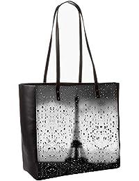 Rainy Paris Obo, Shoulder Bag Tote Faux Leather Handbag Satchel Tote