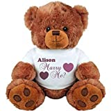 Alison, Will You Marry Me?: Medium Plush Teddy Bear