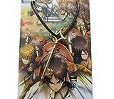 Shingeki No Kyojin Attack on Titan Cosplay Eren Jaeger Key Necklace Pendant