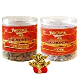 Chocholik Dry Fruits - Almonds Peri Peri & Almonds Rose With Small Ganesha Idol - Diwali Gifts - 2 Combo Pack