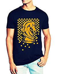 T Shirt For Men & Boys Graphic Round Neck Half Sleeve_ Under ₹499_Slim Fit_100% Cotton_Casual T Shirt_Chess Horse_T-Shirts...