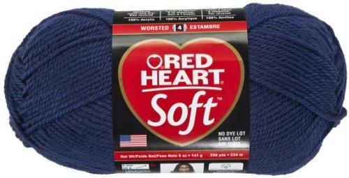 Red Heart Soft Yarn, Navy