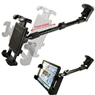 ChargerCity 360 Swivel Adjustment Rigid Telescope Extension Windshield Tablet Suction Mount For Apple IPad 5 4...