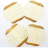 JustNile Large Wooden Coaster Insulation Pad Set - 4pc Apple-Shape