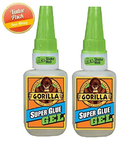 15g Gorilla Super Glue Gel, 2 Pack
