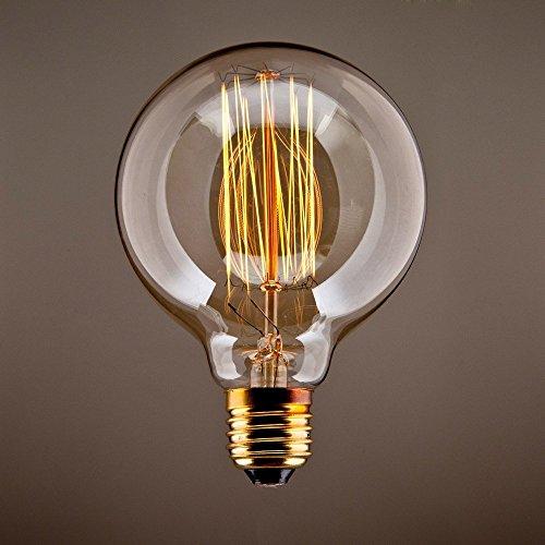 CMYK Vintage Grande lampadina Globo con gabbia di luce filamento della lampadina 40W (vecchio ...