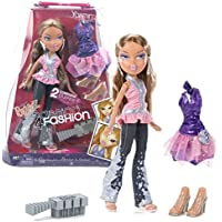 Mga Entertainment Bratz Passion 4 Fashion Series 10 Inch Doll Yasmin With 2 Sets Of Pink With Silver Polka Dots...