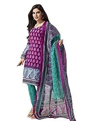 AASRI Pure Cotton 3 Piece Unstitched Salwar Suit - B014308ZWM