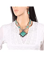 Mela Handcrafted Exclusive,Ethnic, Beaded Designer Fashion Necklace With Pendant For Women