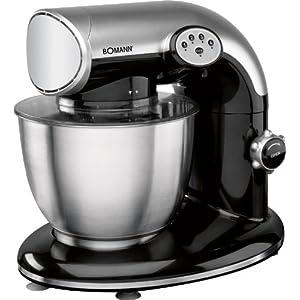 Bomann KM 362 CB, Negro, Acero inoxidable, 230 V, 50 Hz - Robot de cocina (importado de Alemania)