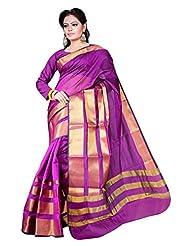 Asavari Magenta Contemporary Design Art Silk Banarasi Saree - B00ZPL4XO8