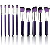 Unimeix? 10 Pcs Premium Synthetic Kabuki Makeup Brush Set Cosmetics Foundation Blending Blush Eyeliner Face Powder...