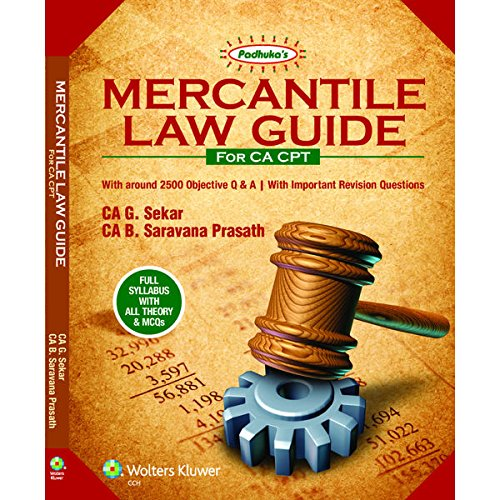Mercantile Law Guide - CA CPT – 2016 by G Sekar (Author)