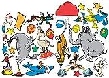 Paper Magic Eureka Dr. Seuss If I Ran The Circus 2-Sided Deco Kit