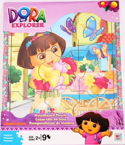 Dora the Explorer Woodboard Puzzle (9-Piece) -- Flower Cart