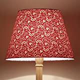 Craftter Traditional KERI DESIGN RED Colour FABRIC FLOOR Lamp Shade (CWFLS-19)