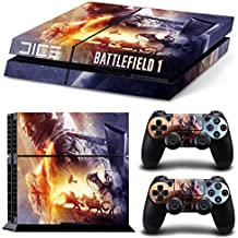 Elton Battle Field-1 Theme 3M Skin Sticker Cover For PS4 Console And Controllers