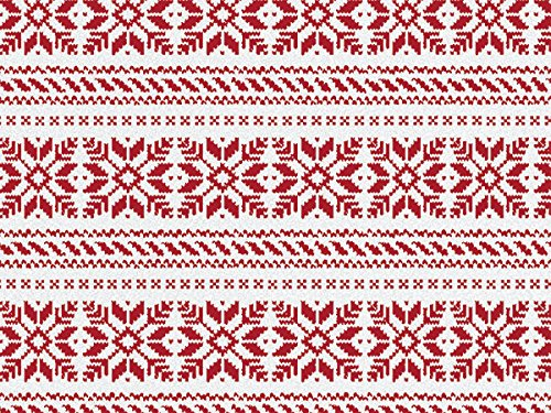 Nordic Snowflakes Sweater Gift Wrap Roll