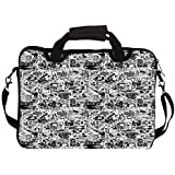 """Snoogg Life Cycle Uno 15"""" 15.5"""" 15.6"""" Inch Laptop Notebook SlipCase With Shoulder Strap Handle Sleeve Soft Case..."""