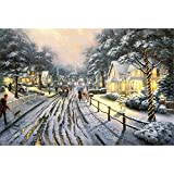 Mutong Toys Adult 1000-piece Puzzle Ink Painting Style Wooden Jigsaw Puzzles ST009-Snow Village
